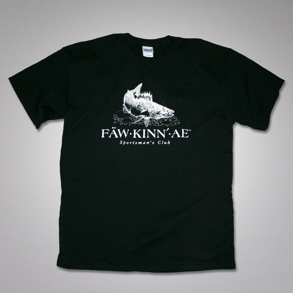 Walleye fishing t-shirt - black, Fawkinnae