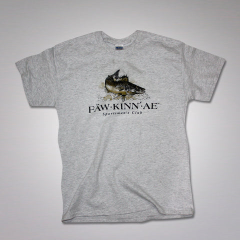 Walleye fishing t-shirt - gray, Fawkinnae