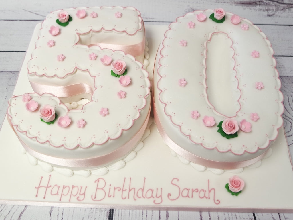 Admirable Crafty Cakes Exeter Uk 50Th Numbers Cake Funny Birthday Cards Online Elaedamsfinfo