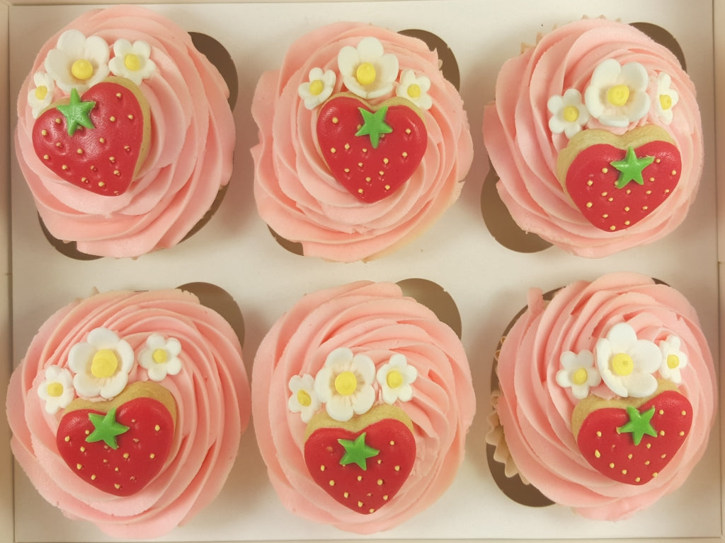 Strawberry Valentine Cupcakes
