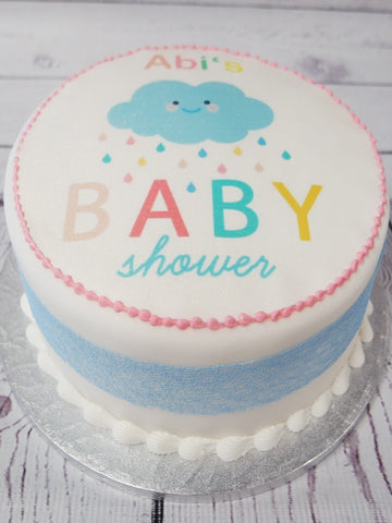 Baby Shower Cloud Cake