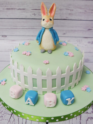Baby Shower Peter Rabbit Cake