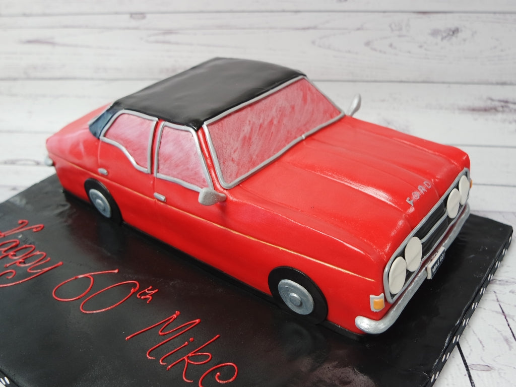Home Mens Birthday Cakes Classic Ford Car Cake Side