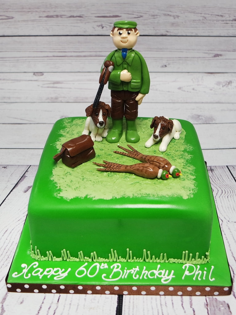 Excellent Crafty Cakes Exeter Uk Country Hunting Theme Cake Funny Birthday Cards Online Barepcheapnameinfo