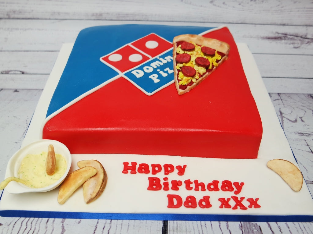 Awesome Crafty Cakes Exeter Uk Dominos Pizza Cake Funny Birthday Cards Online Elaedamsfinfo