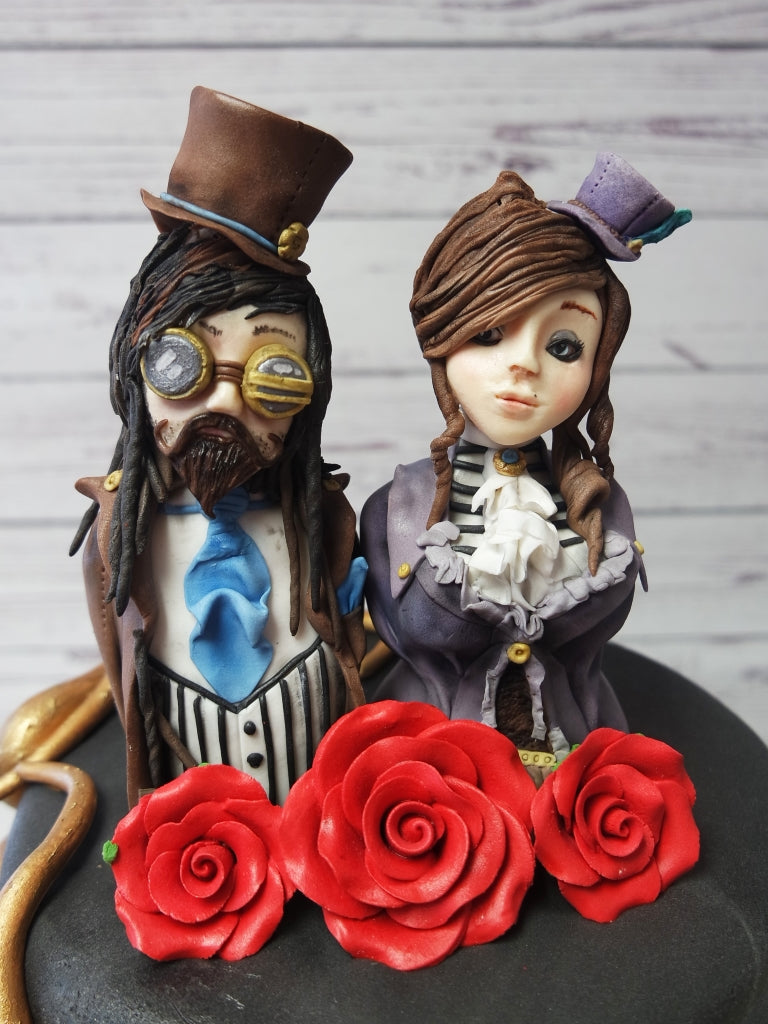 Gothic Steam Punk Wedding Cake