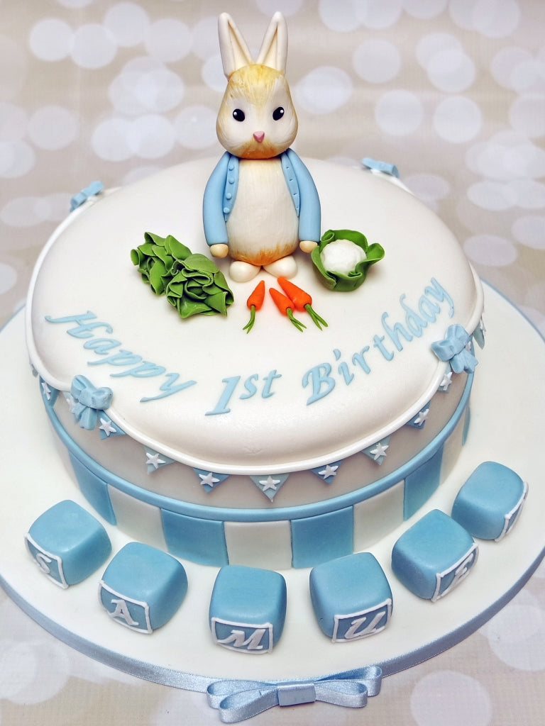 Peter Rabbit Name Blocks Cake