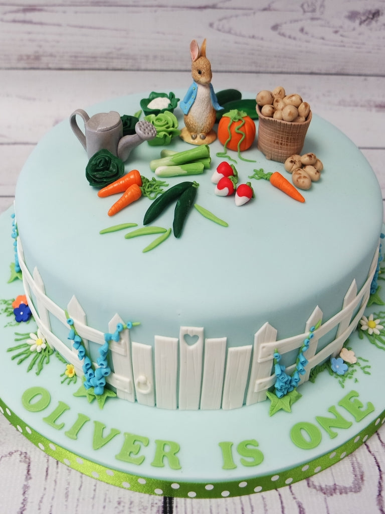 Awe Inspiring Crafty Cakes Exeter Uk Peter Rabbit Scene Boys Cake Personalised Birthday Cards Epsylily Jamesorg