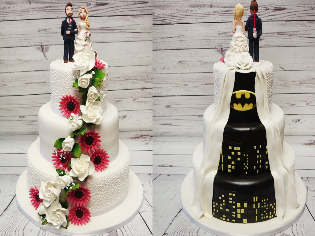 Reveal Batman Wedding Cake