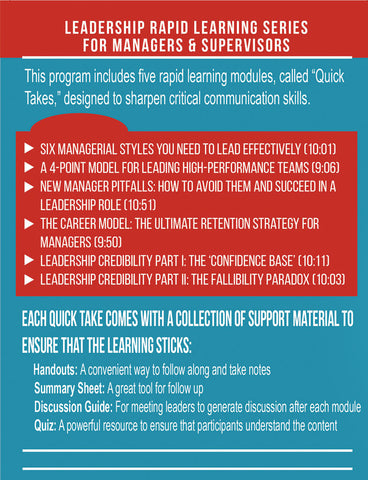 The Leadership Rapid Learning Series for Managers & Supervisors