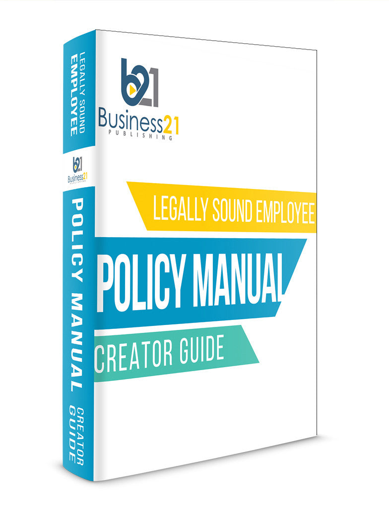 customizable policy manual and employee handbook creator business