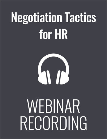 Negotiation Tactics for HR Professionals