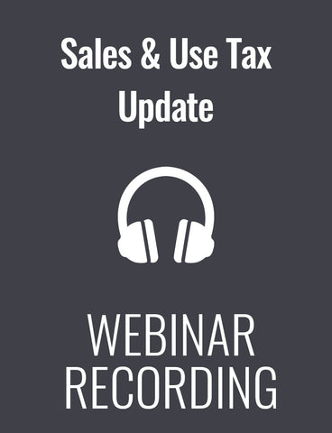 Sales & Use Tax Update: What State Actions to the Wayfair Decision Mean to Your Organization