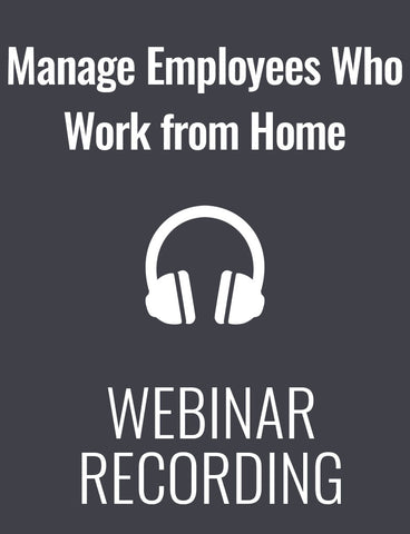 Successfully Manage Employees Who Work from Home
