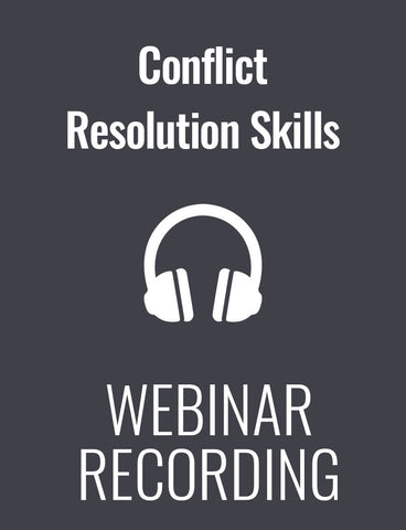 Conflict Resolution Skills for Managers and Supervisors