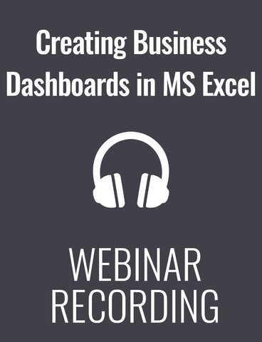 Creating Business Dashboards in MS Excel