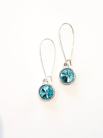 Bella Earrings in Caribbean Teal