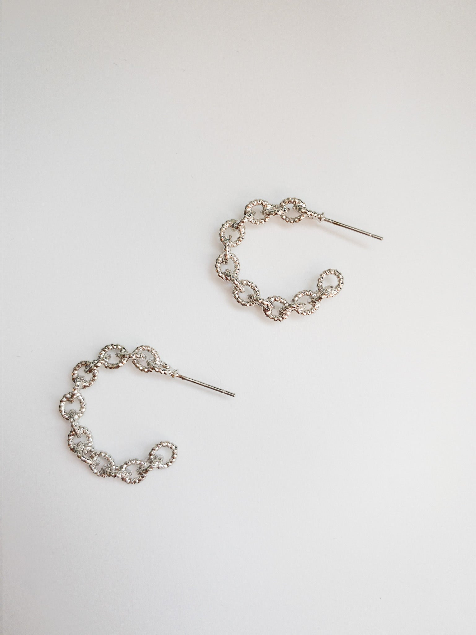Amaya Silver Hoop Earrings