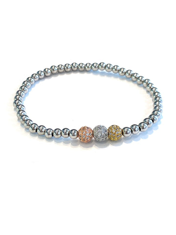 Millie Mixed Metal Ball Beaded Bracelet