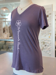 Pensacola Beach Flower Tee - Purple