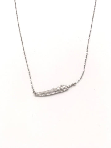 Staesha Silver Feather Necklace