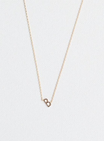 B Letter Necklace