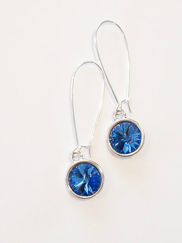 Bella Earrings in Royal Blue