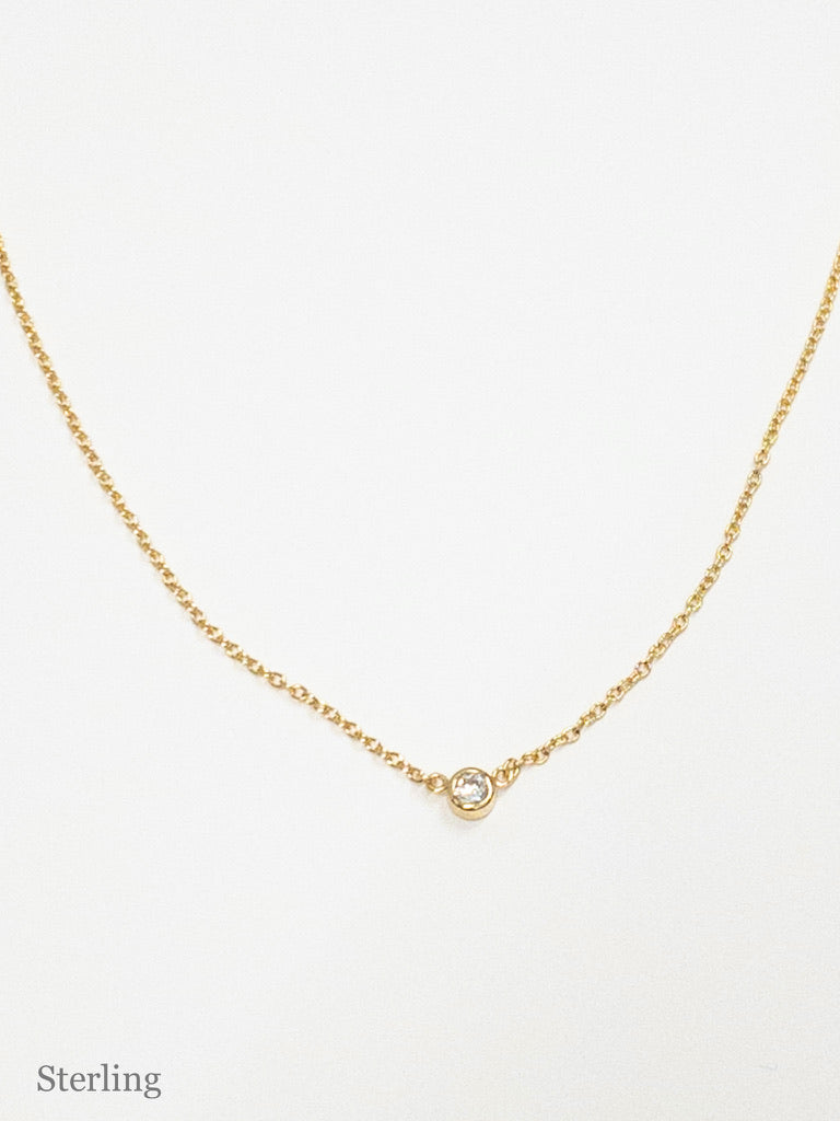 Sierra Gold Sterling Necklace