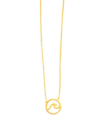 Dainty Wave Necklace in Gold