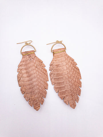 Rebecca leather earrings