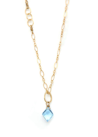 Swiss Blue Topaz Bonaire Necklace
