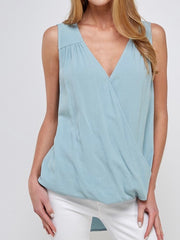 Olyvia Top in Stone Blue