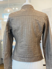 Allegra Vegan Leather Jacket in Cocoa