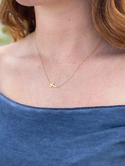 Hannah Gold Cross Necklace