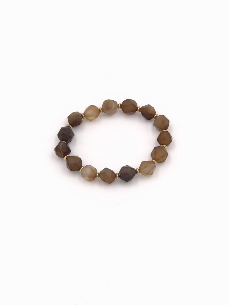 JoJo Brown Gemstone Bracelet