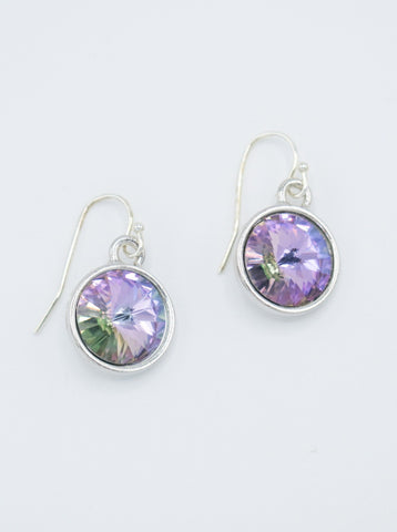Bella Swarovski Earrings in purple flash