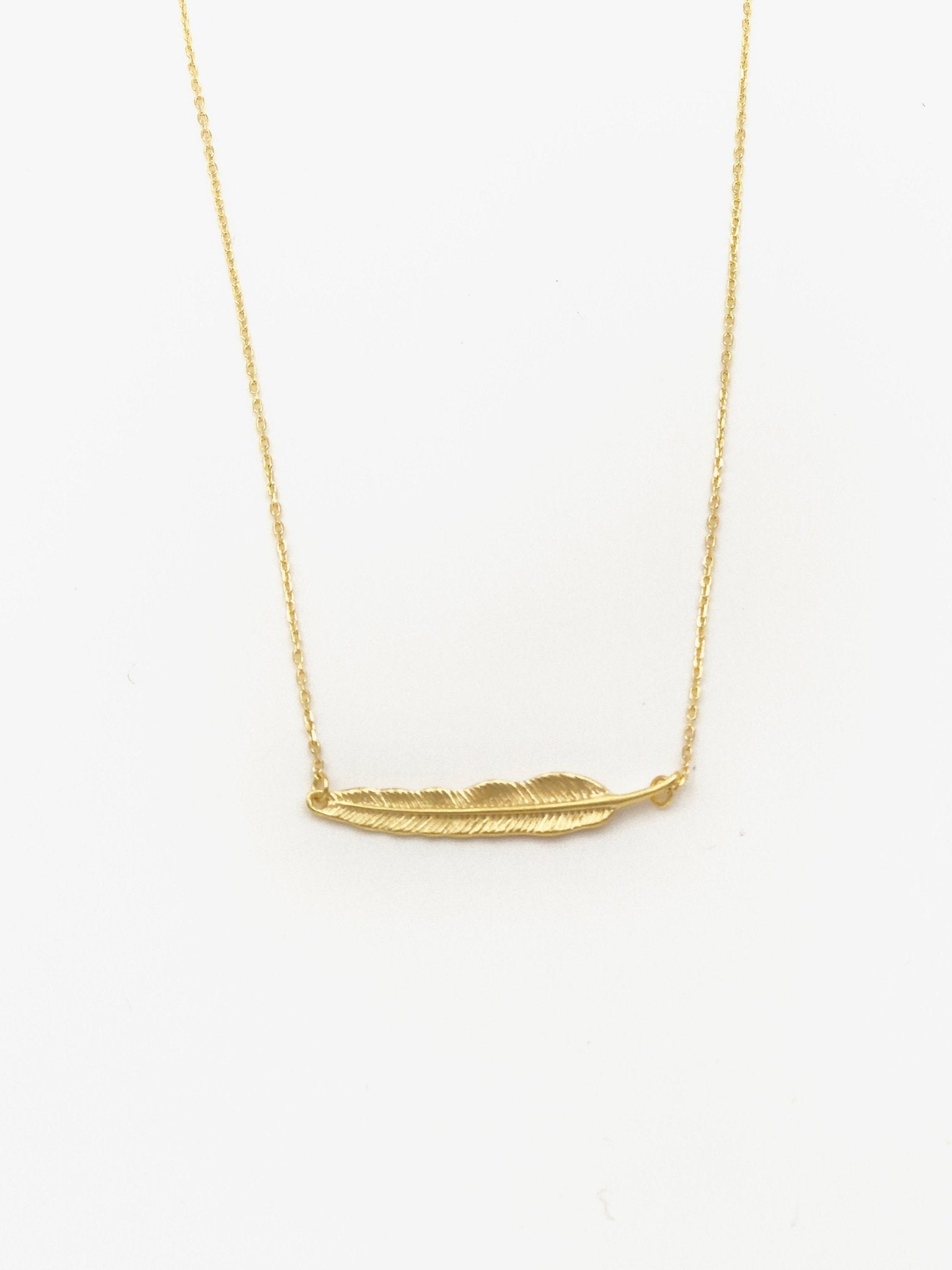 Staesha Gold Feather Necklace