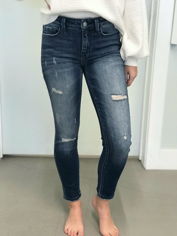 Elise Distressed Flying Monkey Skinny Jeans