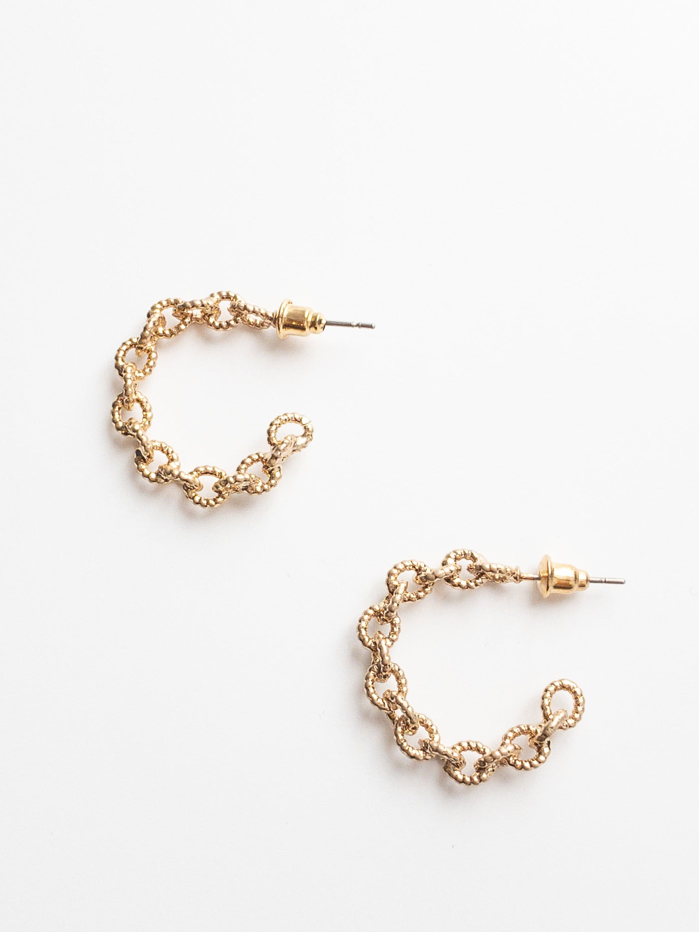 Amaya Gold Hoop Earrings