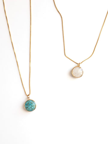 Dune Sandglobe Gold Necklace