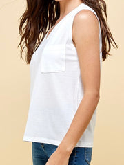 Khloe Sleeveless Top - White