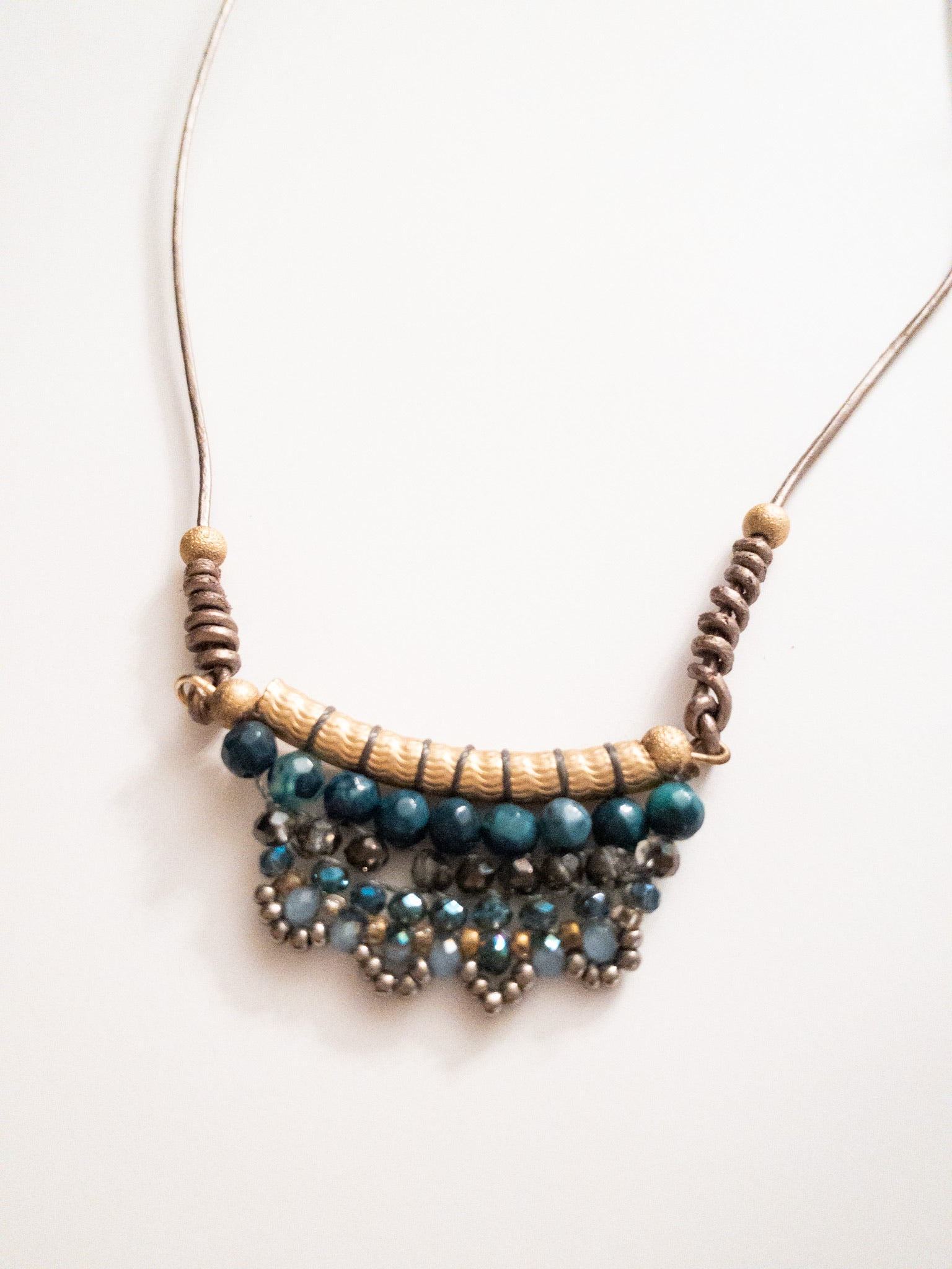 Suzie Leather Beaded Necklace