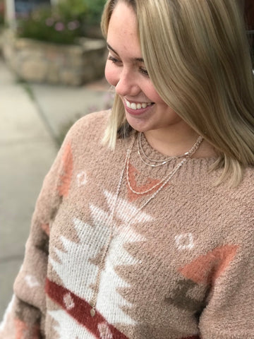 Sicily Rose Gold Layered Necklace