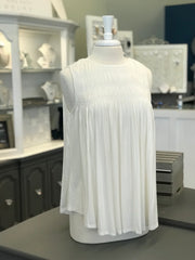 Carolina Bunched Tank in Ivory