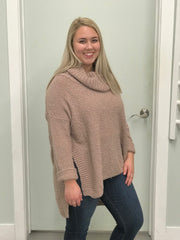 Jazelle Oversized Sweater - Taupe