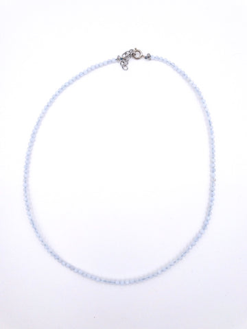 Light Blue Beaded Choker