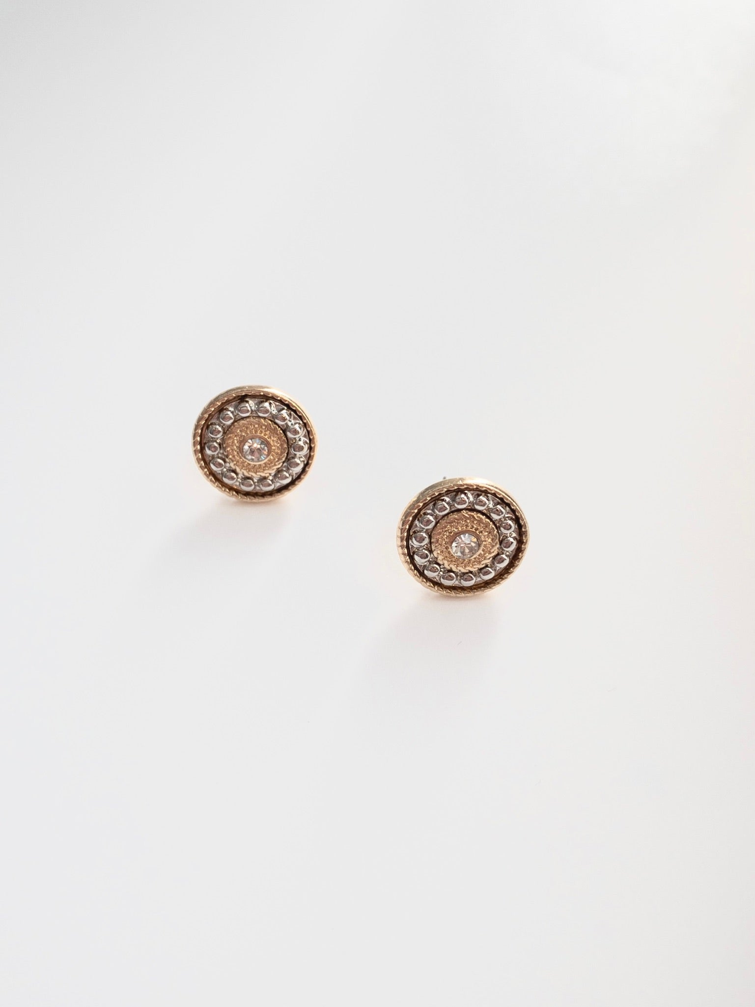 Lizzi Mixed Metal Textured Stud Earrings
