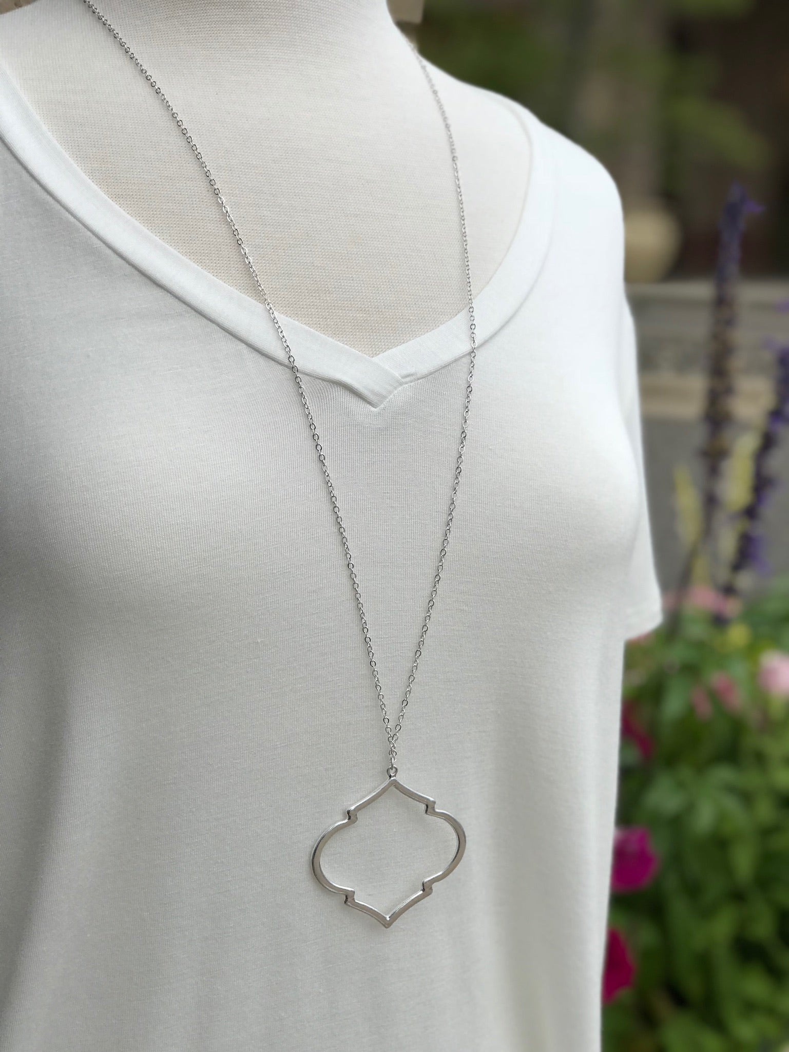 Kennedy Long Silver Necklace