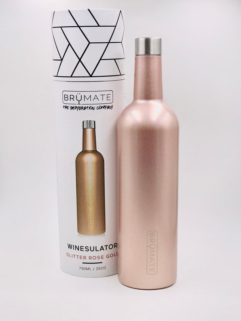 BruMate Winesulator in Glitter Rose Gold