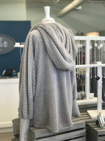 Hannah Grey Blanket Sweater